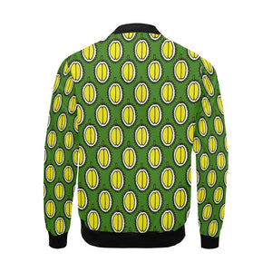 Durian Pattern Print Design DR01 Men Bomber Jacket-kunshirts.com
