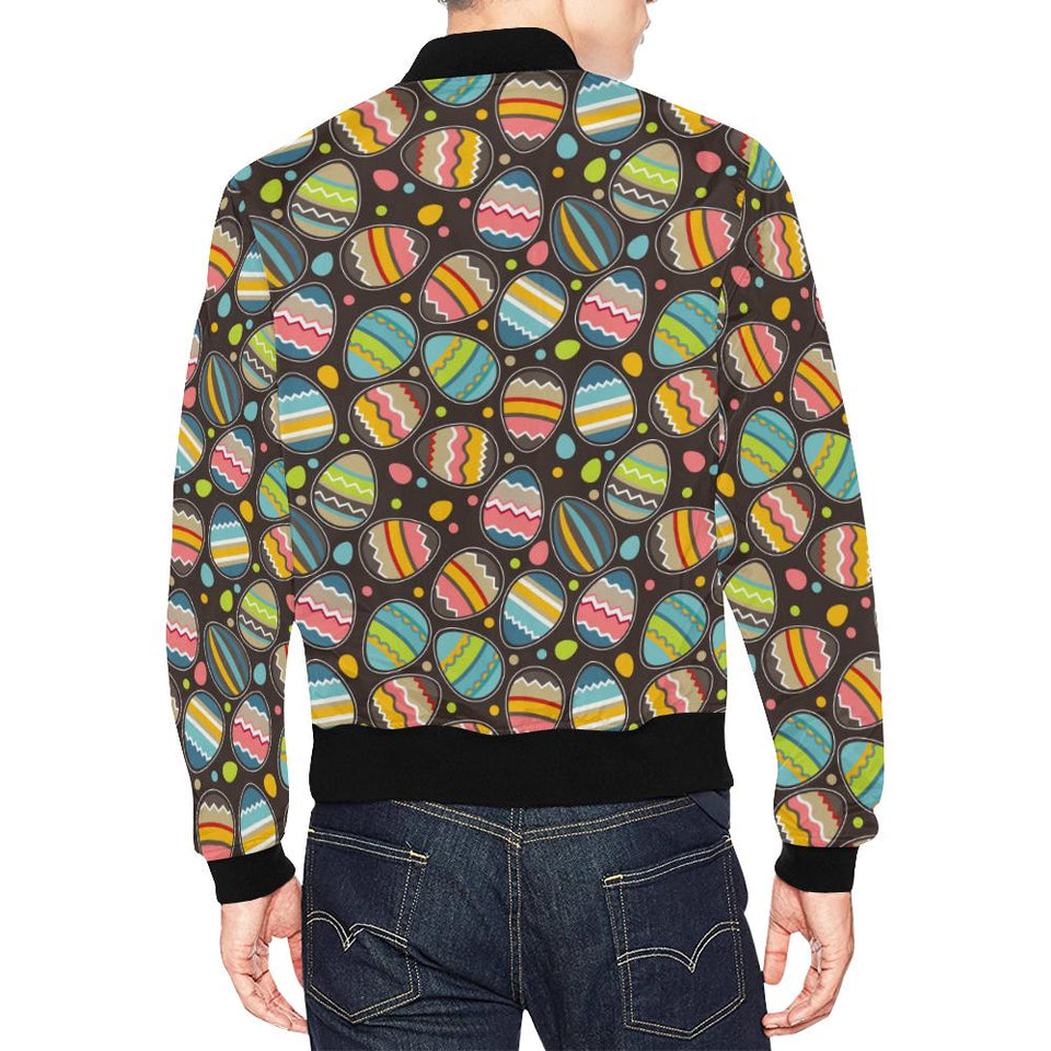 Easter Eggs Pattern Print Design RB03 Men Bomber Jacket-kunshirts.com