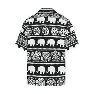 Elephant Pattern Hawaiian Shirt-kunshirts.com