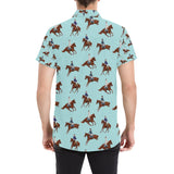 Equestrian Horse Riding Button Up Shirt-kunshirts.com