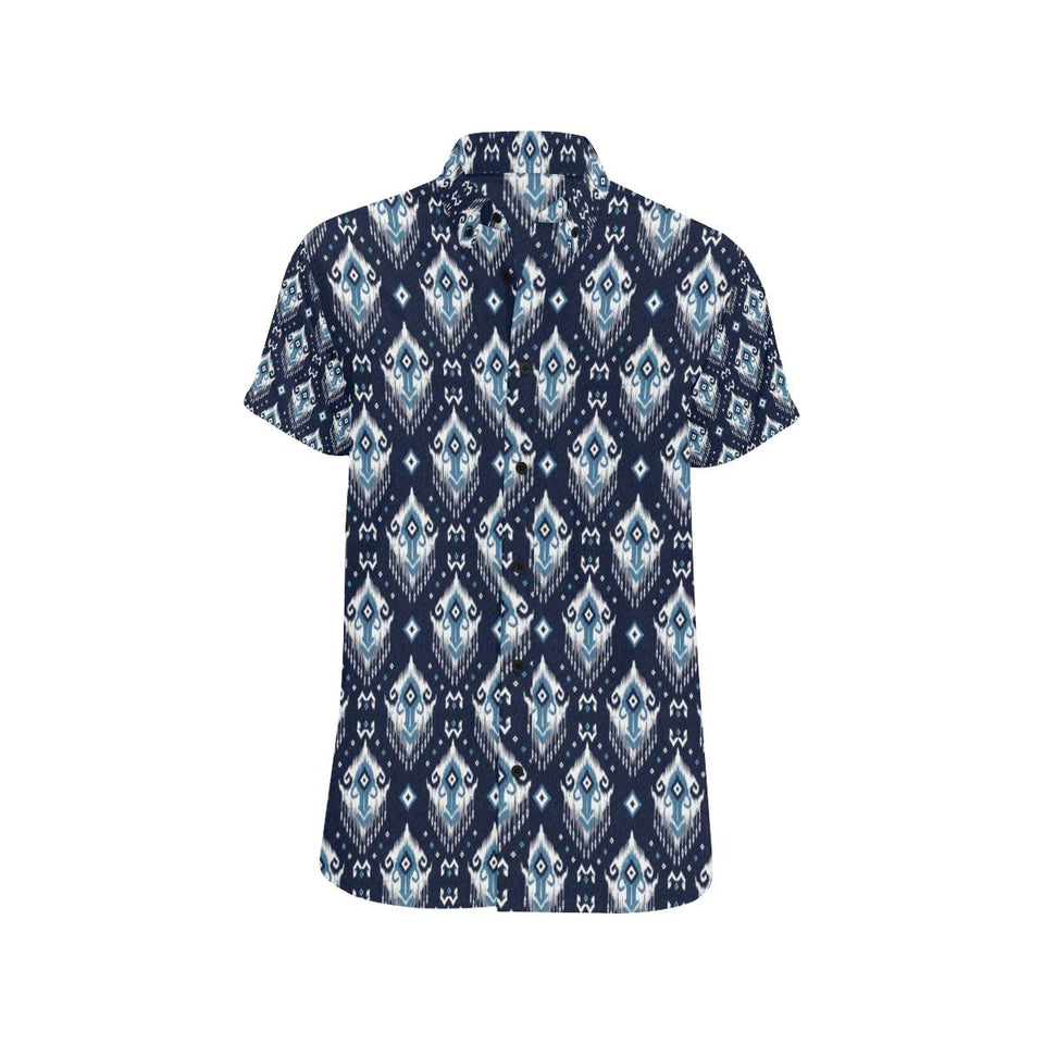 Ethnic Ornament Print Pattern Button Up Shirt-kunshirts.com