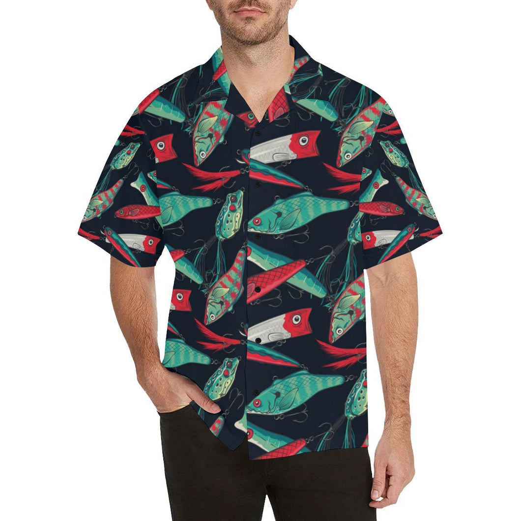 Fishing Bait Pattern Hawaiian Shirt-kunshirts.com