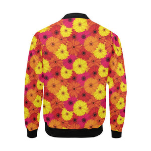 Gerberas Pattern Print Design GB05 Men Bomber Jacket-kunshirts.com