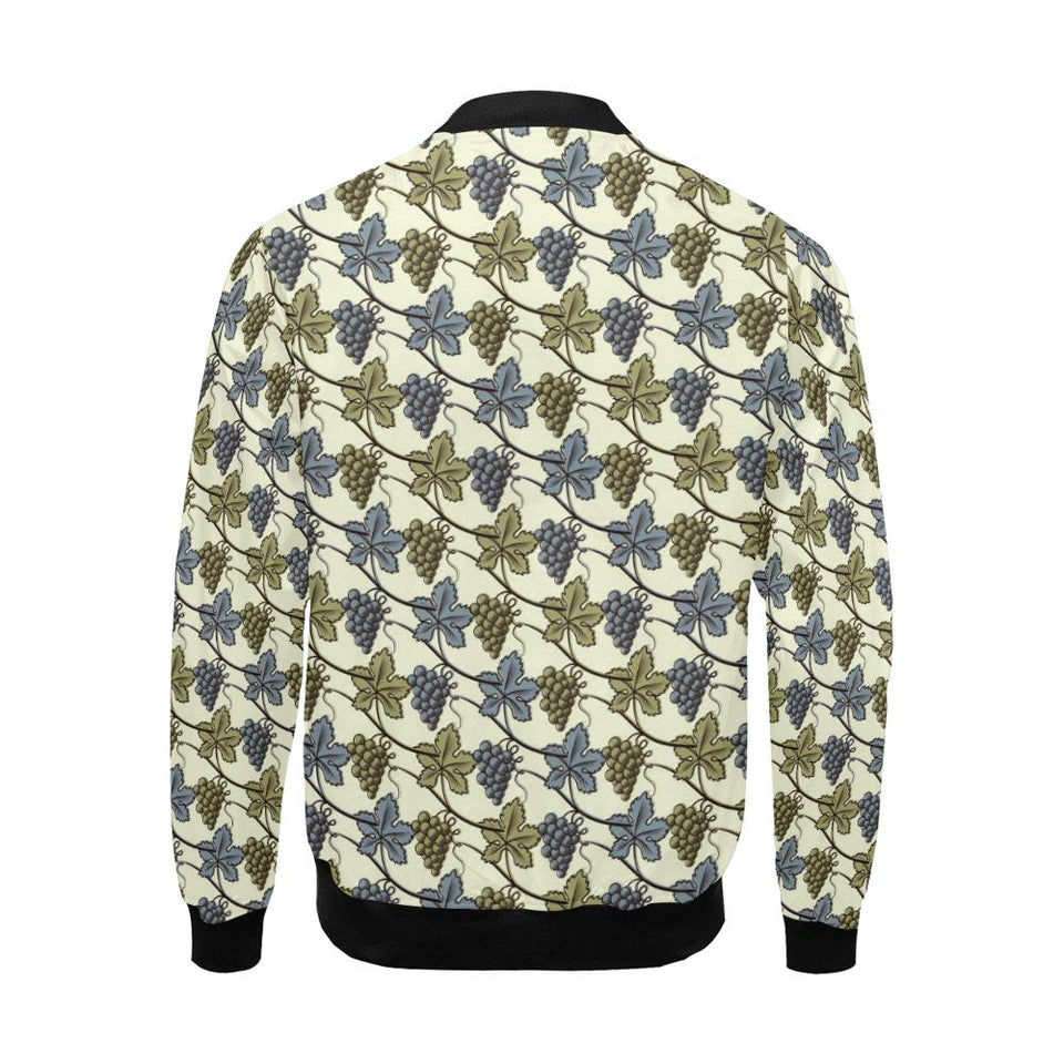Grape Pattern Print Design GP03 Men Bomber Jacket-kunshirts.com