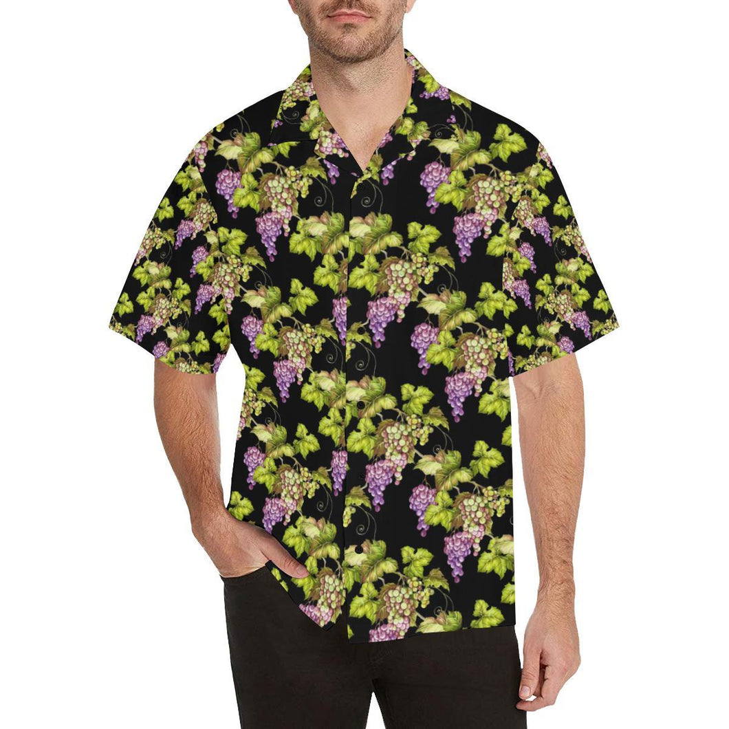 Grape Pattern Print Design GP04 Hawaiian Shirt-kunshirts.com