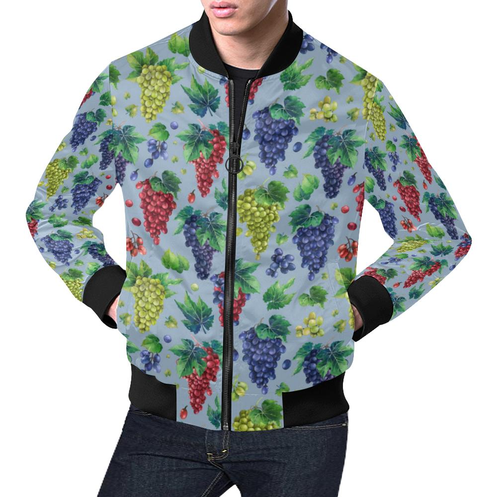 Grape Pattern Print Design GP06 Men Bomber Jacket-kunshirts.com