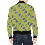 Grape Pattern Print Design GP08 Men Bomber Jacket-kunshirts.com
