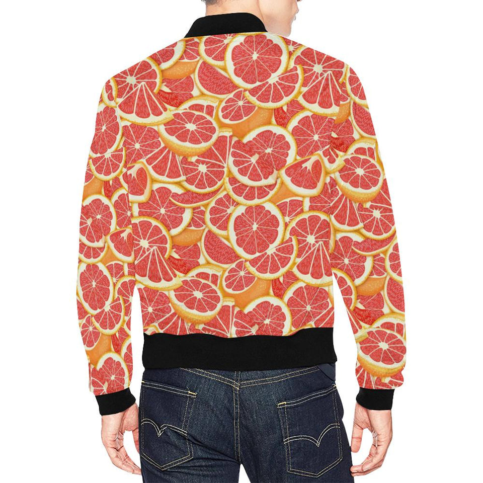 Grapefruit Pattern Print Design GF02 Men Bomber Jacket-kunshirts.com