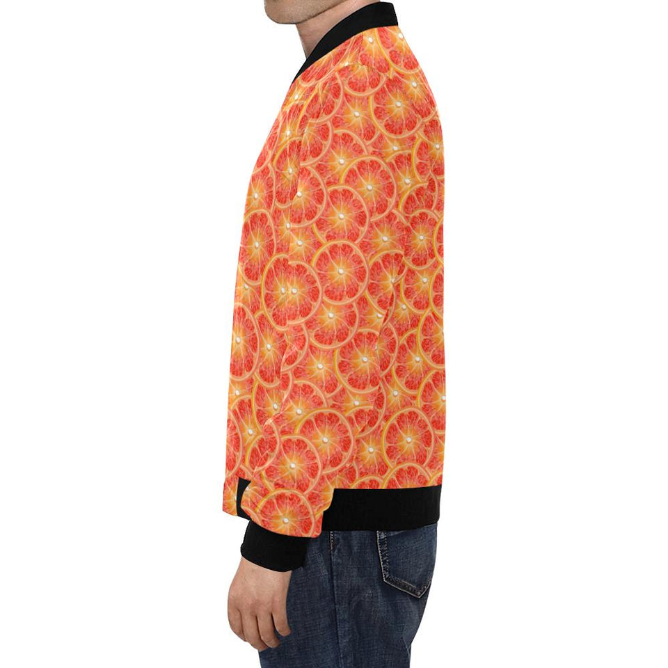 Grapefruit Pattern Print Design GF06 Men Bomber Jacket-kunshirts.com