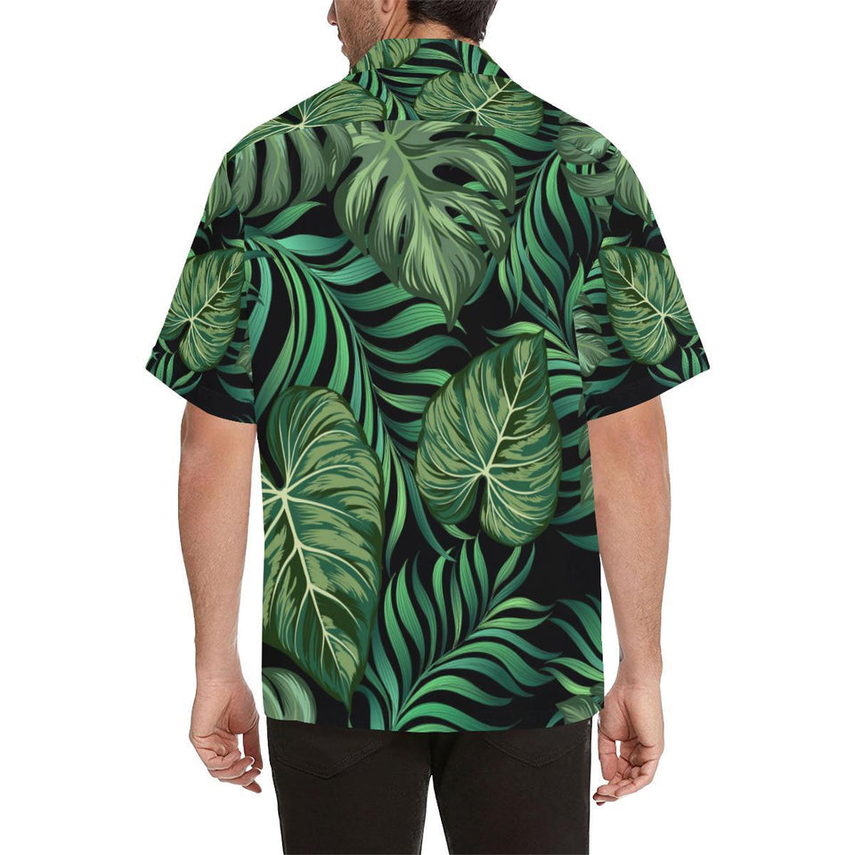 Green Fresh Tropical Palm Leaves Hawaiian Shirt-kunshirts.com