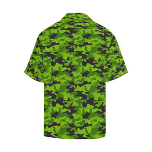 Green Kelly Camo Print Hawaiian Shirt-kunshirts.com
