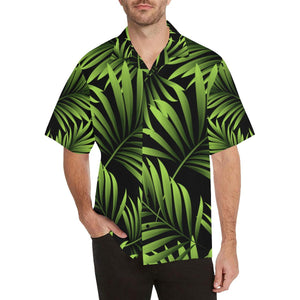 Green Neon Tropical Palm Leaves Hawaiian Shirt-kunshirts.com