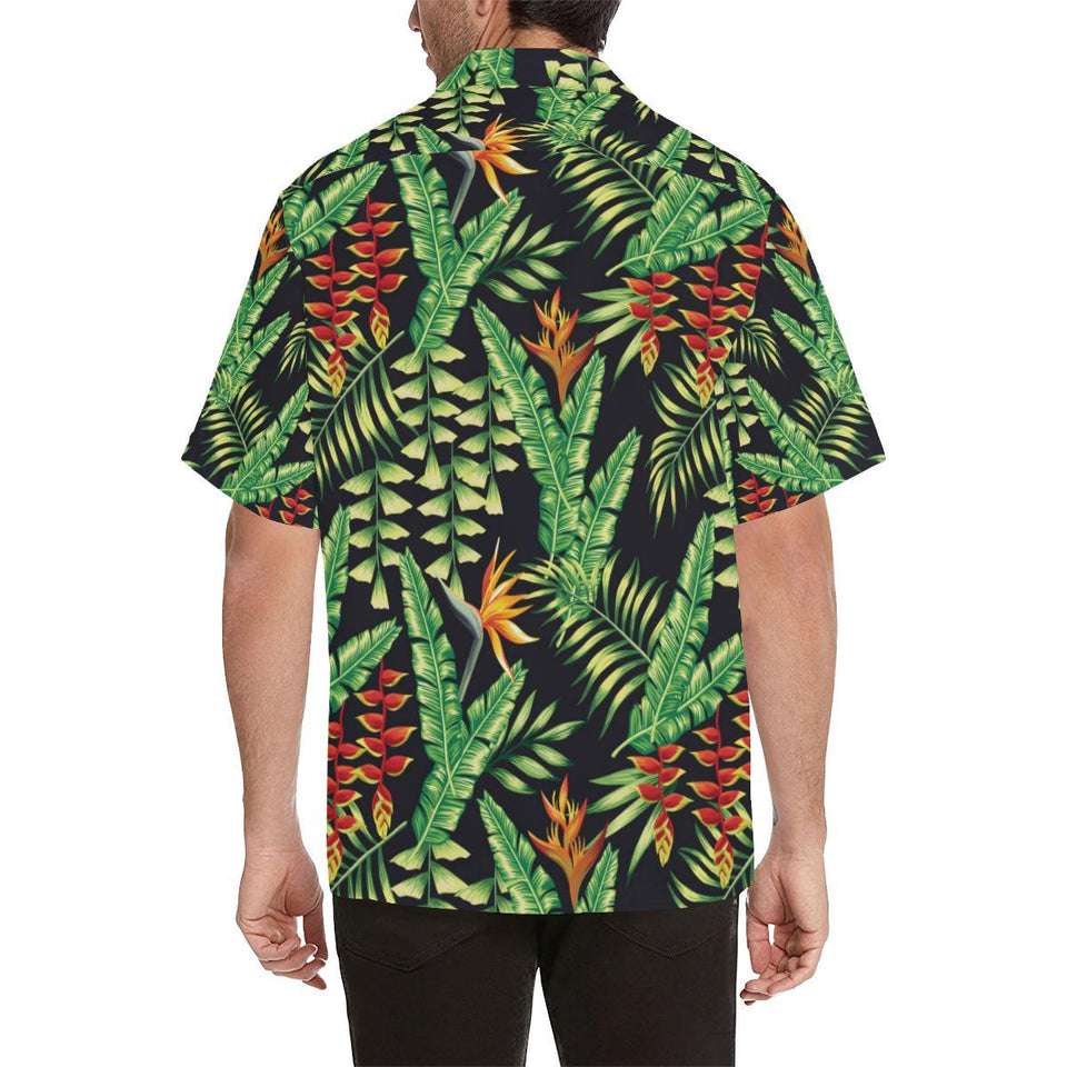 Hawaiian Flower Tropical Palm Leaves Hawaiian Shirt-kunshirts.com