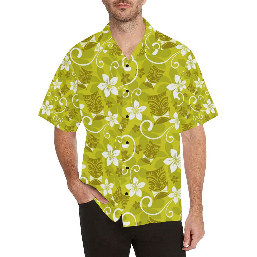 Hawaiian Themed Pattern Print Design H019 Hawaiian Shirt-kunshirts.com