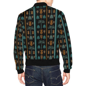Hawaiian Themed Pattern Print Design H023 Men Bomber Jacket-kunshirts.com
