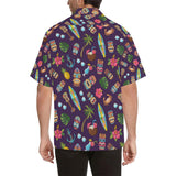 Hawaiian Themed Pattern Print Design H024 Hawaiian Shirt-kunshirts.com
