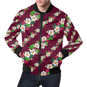 Hawaiian Themed Pattern Print Design H06 Men Bomber Jacket-kunshirts.com
