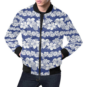 Hawaiian Themed Pattern Print Design H07 Men Bomber Jacket-kunshirts.com