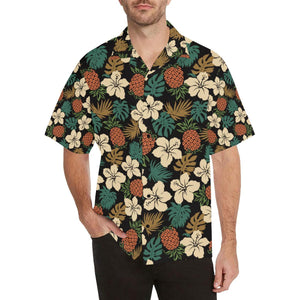 Hawaiian Themed Pattern Print Design H08 Hawaiian Shirt-kunshirts.com