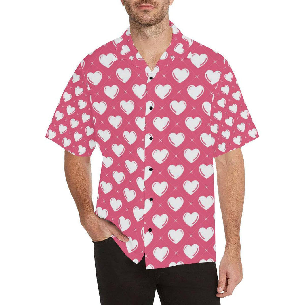 Heart Pattern Print Design HE07 Hawaiian Shirt-kunshirts.com