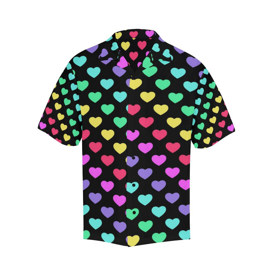 Heart Rainbow Pattern Print Design HE02 Hawaiian Shirt-kunshirts.com