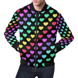 Heart Rainbow Pattern Print Design HE02 Men Bomber Jacket-kunshirts.com