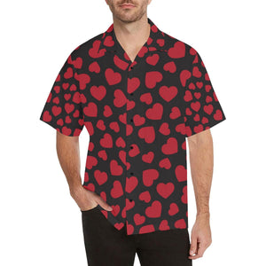 Heart Red Pattern Print Design HE01 Hawaiian Shirt-kunshirts.com
