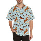 Horse Cute Themed Pattern Print Hawaiian Shirt-kunshirts.com