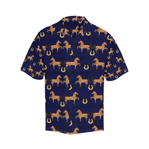 Horse Luxury Themed Pattern Print Hawaiian Shirt-kunshirts.com