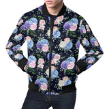 Hydrangea Pattern Print Design HD01 Men Bomber Jacket-kunshirts.com