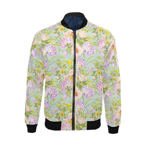 Hydrangea Pattern Print Design HD02 Men Bomber Jacket-kunshirts.com
