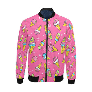 Ice Cream Pattern Print Design IC04 Men Bomber Jacket-kunshirts.com