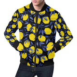 Lemon Pattern Print Design LM01 Men Bomber Jacket-kunshirts.com