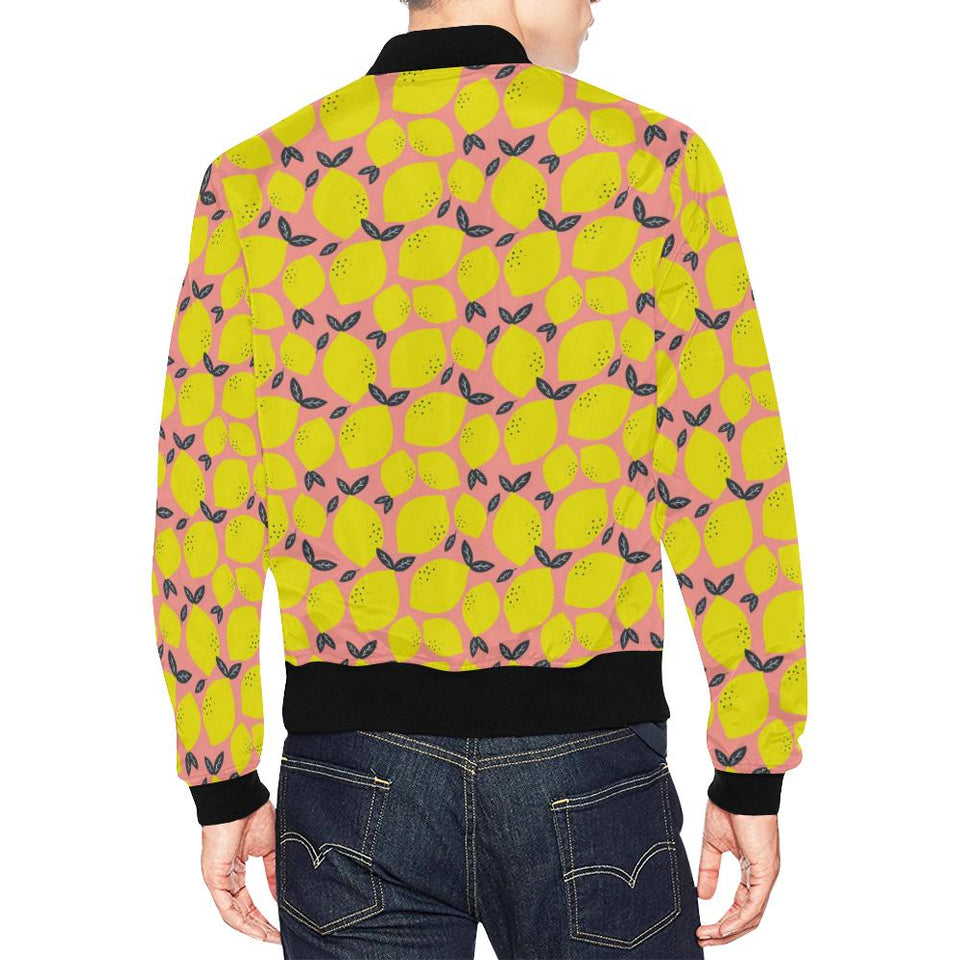 Lemon Pattern Print Design LM03 Men Bomber Jacket-kunshirts.com