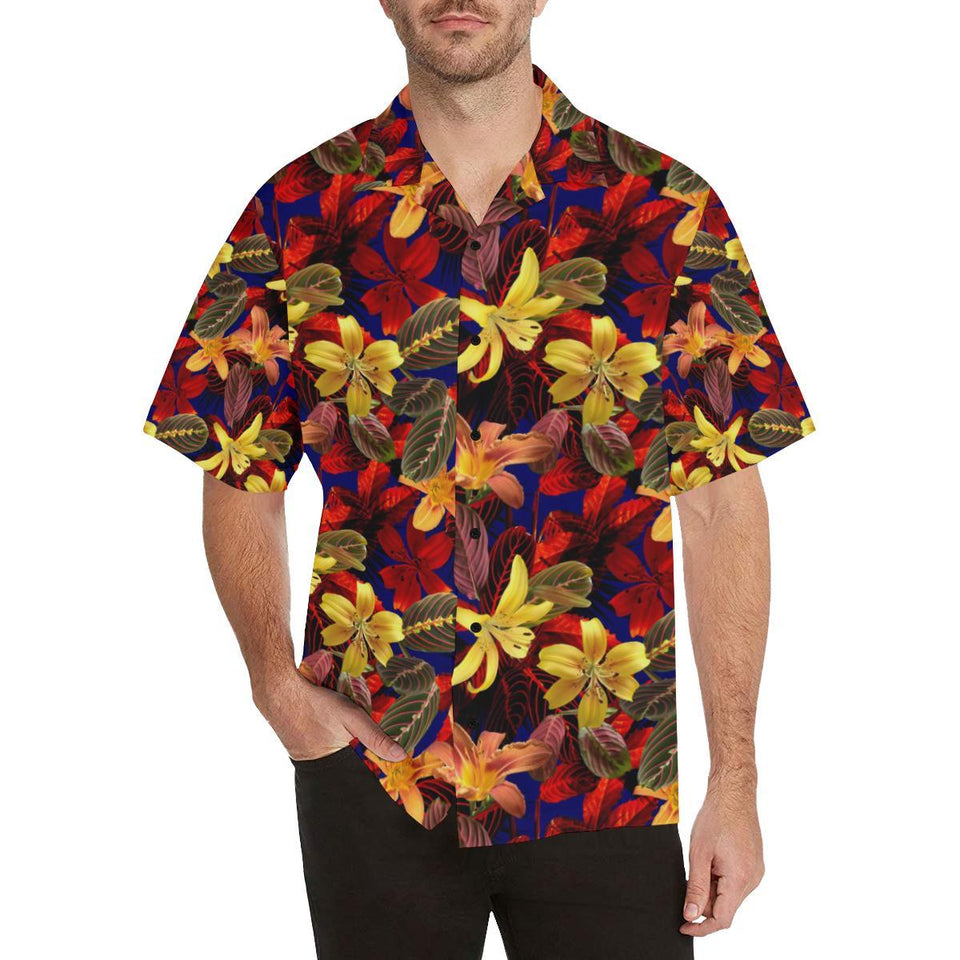 Lily Pattern Print Design LY014 Hawaiian Shirt-kunshirts.com