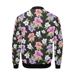 Lily Pattern Print Design LY02 Men Bomber Jacket-kunshirts.com