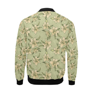 Lily Pattern Print Design LY06 Men Bomber Jacket-kunshirts.com