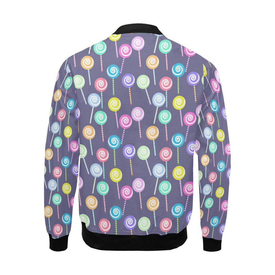 Lollipop Pattern Print Design LL03 Men Bomber Jacket-kunshirts.com