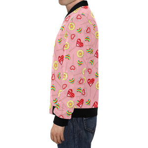 Lollipop Pattern Print Design LL05 Men Bomber Jacket-kunshirts.com