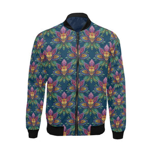 lotus Boho Pattern Print Design LO04 Men Bomber Jacket-kunshirts.com