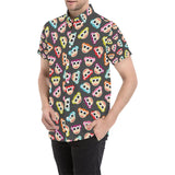 Monkey Head Design Themed Print Button Up Shirt-kunshirts.com