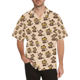 Monkey Pattern Print Design 03 Hawaiian Shirt-kunshirts.com