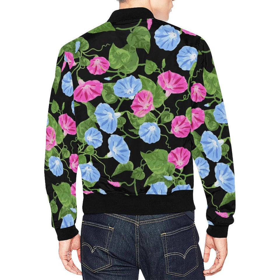 Morning Glory Pattern Print Design MG04 Men Bomber Jacket-kunshirts.com
