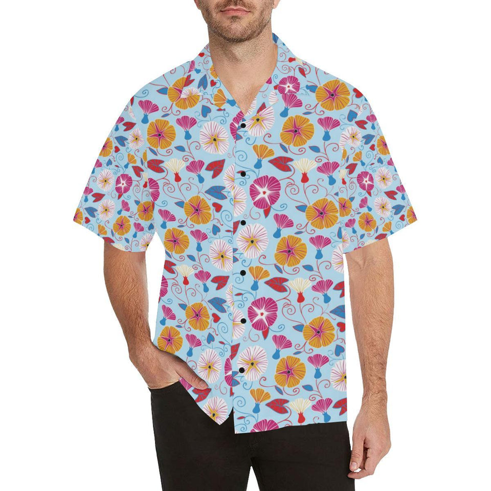 Morning Glory Pattern Print Design MG06 Hawaiian Shirt-kunshirts.com