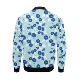 Morning Glory Pattern Print Design MG07 Men Bomber Jacket-kunshirts.com