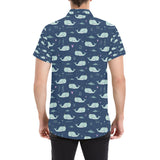 Narwhal Design Print Button Up Shirt-kunshirts.com