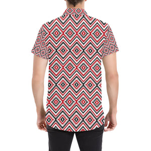 Native American Themed Tribal Print Button Up Shirt-kunshirts.com