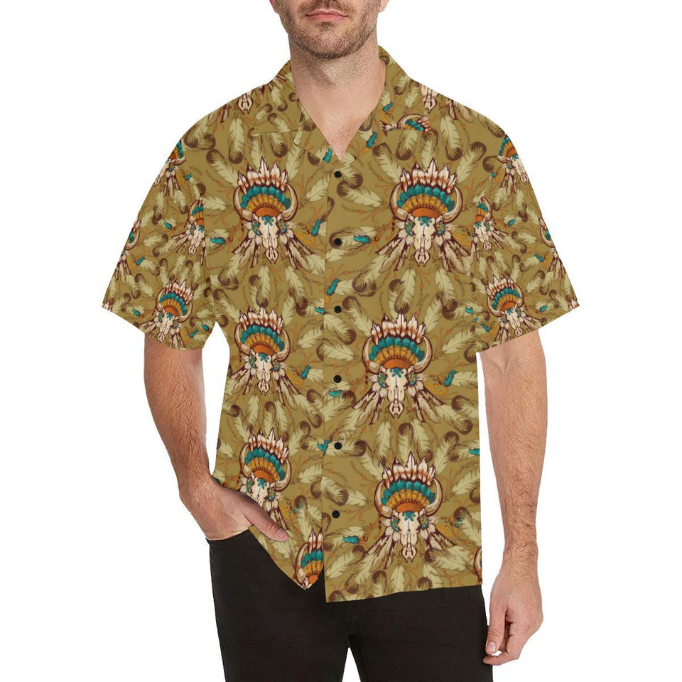 Native Indian Buffalo head Hawaiian Shirt-kunshirts.com