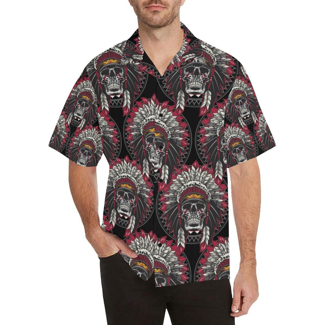 Native Indian Skull Hawaiian Shirt-kunshirts.com