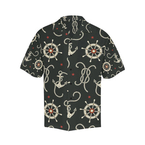 Nautical Anchor Pattern Hawaiian Shirt-kunshirts.com